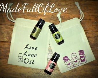 Live Love Oil Travel Pouch Essential Oil Pouch Oils To Go Pouch