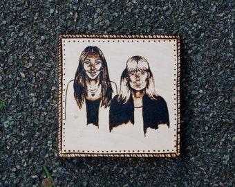 6 x 6 Custom Woodburning Portrait