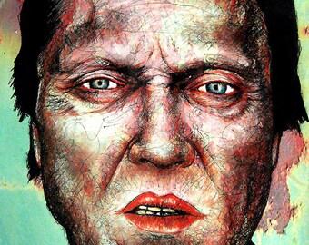 "Print 8x10"" - Christopher Walken - Portrait Drama Comedy Horror Actor Horror Sleepy Hollow Pulp Fiction Pop Art Lowbrow Juxtapoz"