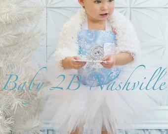 Winter Onederland Snow Princess Shrug Baby to Toddler