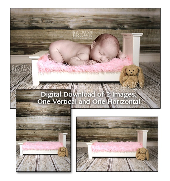 Baby girl pink bed digital background 2 digital files with