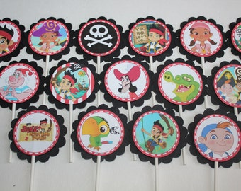 Jake & Neverland Pirates Inspired Cupcake Toppers