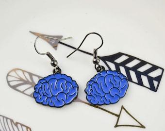 Earrings brains - anatomy - funny jewelry - Animal jewelry - Rockabilly - Enamel earrings - Neon - Funky earrings - grunge - funny gift