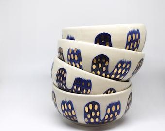 Blue & Gold Soup Bowls