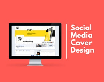 Design a professional Facebook cover image, profile picture and all tab images