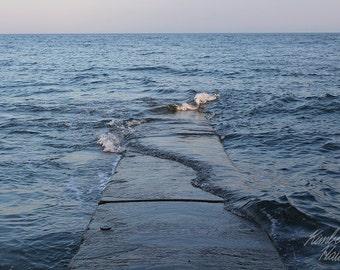 Photography, Beach, Water Across Pier 2