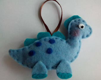 Attached small blue dino