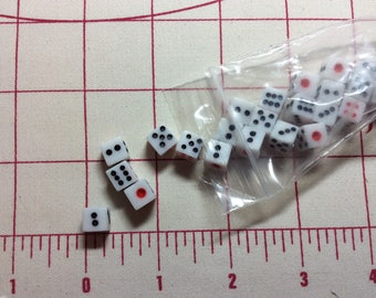 Mini plastic Dice