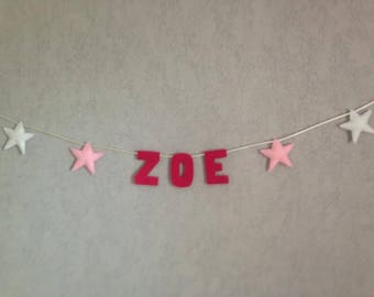 String stars and name customizable colors and patterns
