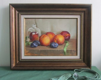 "still life oil paints ""fruit"""