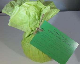 Apple & Lavender Bath Bomb - Handmade