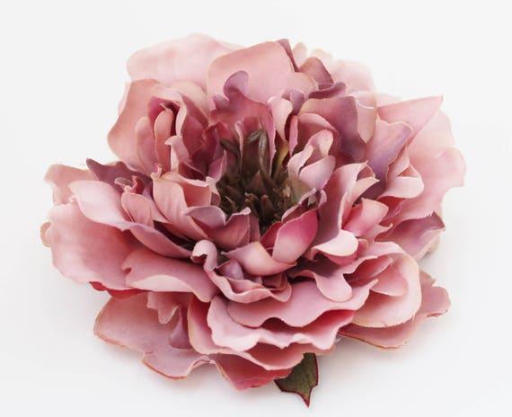 Dusty pink peony artificial silk flower head millinery supplies 400 shipping mightylinksfo