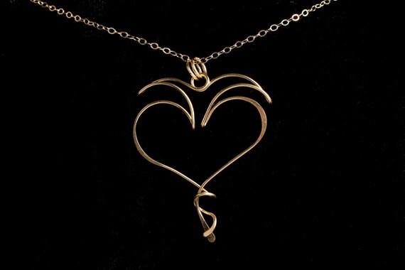 Love, Light & Laughter Pendant, gold filled, rose gold, sterling silver, niobium, argentium, titanium