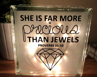 She is More Precious Than Jewels Night Light