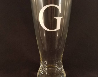 Monogrammed Pint Glass - Set of 4