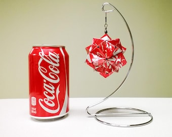 Coke Can Ornament // Metal Origami // Christmas Coke // Upcycled Recycled Repurposed Art // Cyber Monday // Cyber Week