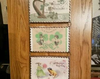 Set of three postcard frames. 51.00  special qt. discount    reg. 19.00 ea.