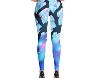 Black Gemstone Galaxy Leggings