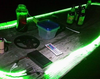 camping battery operated led strip light kit 44 key remote