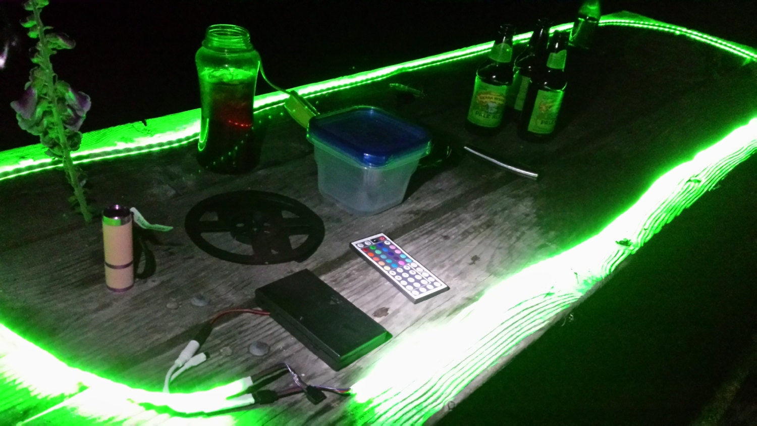 Camping battery operated led strip light kit 44 key remote zoom mozeypictures Choice Image