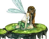Watercolor Fairy Painting...