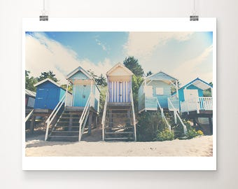 beach photograph beach hut photograph beach hut print Wells Next The Sea photograph ocean photograph travel photography English decor