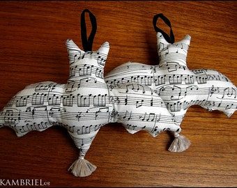 Die Fledermaus - Adorable Hanging Bat Ornament by Kambriel - Sold Individually - Up to 4 Available