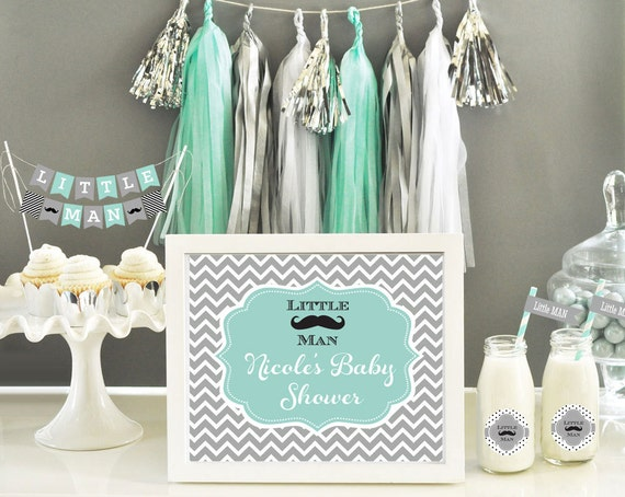 Items Similar To Mustache Baby Shower Decor Mustache Party