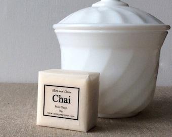 Chai Mini Guest Soap, wedding favors, soap favors, chai soap, cinnamon soap, clove soap, bridal shower favors, stocking stuffers, Hotel soap