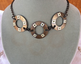 Steampunk Handmade Copper and Brass Necklace