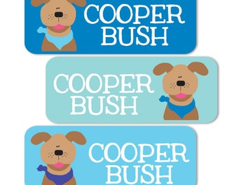 Daycare Labels, Boy Name Labels, Waterproof, School Name Labels, Dogs, Puppy, Boys