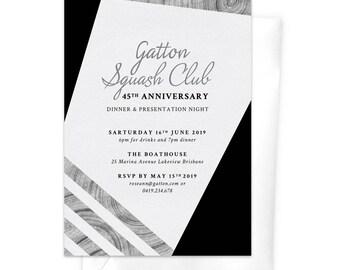 Business Invitation Anniversary Dinner Awards Night Work Function Gala Night Professional Event Corporate Event Elegant Modern Formal