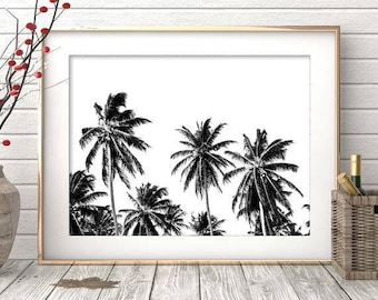 Palm Print,Black and White,Palm Art,Palm Poster,Palm Digital Print,Palm Wall Art,Palm Tree Print,Palm Tree,Palm Print Art,Palm Tree Decor