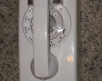 1960s-70s White Rotary Dial  Bell South AT&T Telephone/ Rotary Dial Phone/ Land Line Telephone (Reserved)