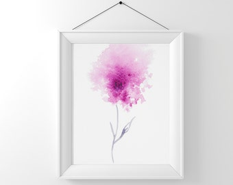 Abstract flower painting Instant Digital Download, Pink flower art