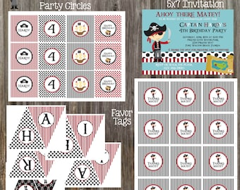 PIRATE BOY Birthday Party Package - DIY Printable