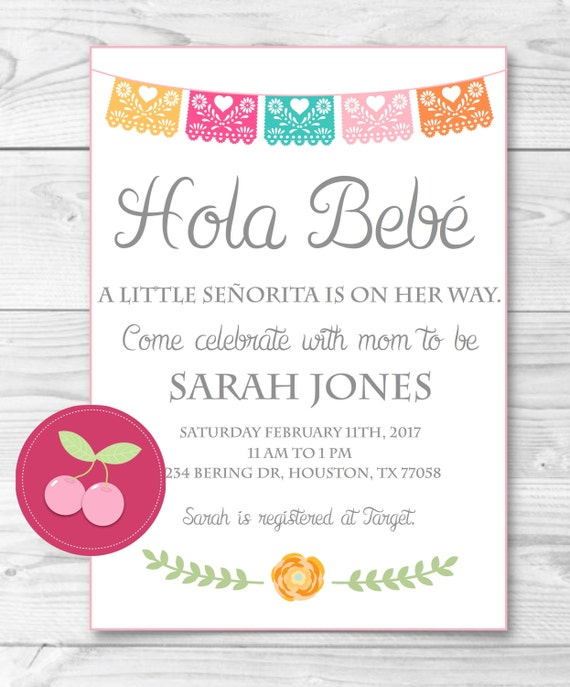 Baby Shower Games In Spanish: Mexican Baby Shower-bebe Spanish Baby Shower Senorita