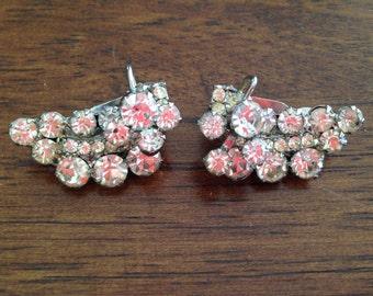 Juliana D&E Clear Rhinestone Earrings with a Floating Wire 0328