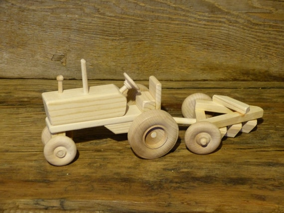 Toys Are Us Wooden Toys : Handmade wooden toys farm tractor and plow