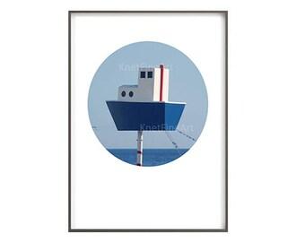 toy boat, nursery decor, wall art, printable art, circle print, art decor, photo printable, child decor