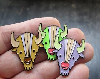 Buffalo Pin - Enamel Bison Pin - Southwest Style Pin