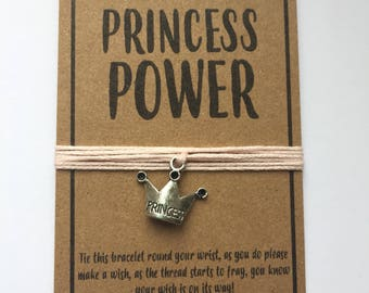 Princess Power friendship wish charm bracelet