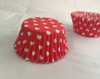 Valentines white heart baking cupcake liners #25