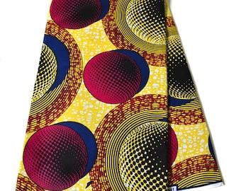 Yellow African Fabric 6 yards/ Supreme Wax Holland/ Best African fabric Wholesale/ Ankara print fabric/ Ankara fabric/ solaria  WP1185