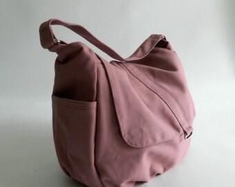 Pale Pink diaper bag,girl Cross body bag, women shoulder bag,canvas school bag,Handbag for mom / Sale 25% - no.18 -DANIEL