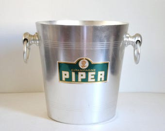 Champagne bucket French Piper heidsieck vintage 1970