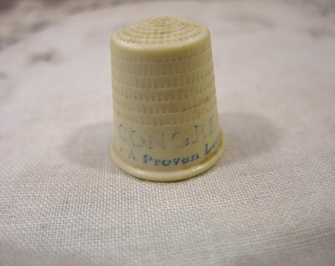 Vintage Political Congress Thimble, Plastic/Celluloid
