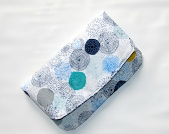 Foldover Clutch, Clutch Bag, Clutch Purse, Foldover Bag, Handbag, Fold Over Clutch,  Womens Wallet, Fabric Clutch, Birthday Gift Idea