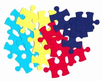 Scrapbooking/ Autism Awareness - Puzzle Pieces - Banners & Bulletin Board 52 Pcs