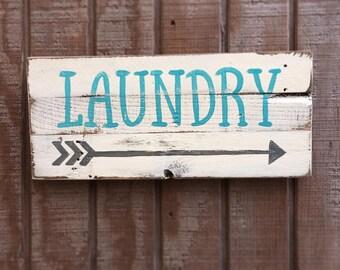 Laundry, rustic sign, wood sign, housewarming gift, home decor, farmhouse decor, wedding gift, laundry decor, rustic wood sign